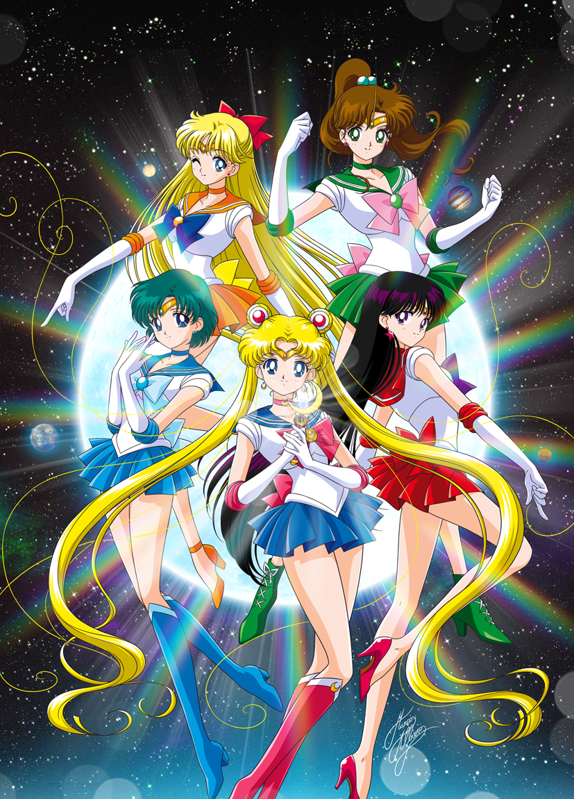 Bishoujo Senshi Sailor Moon: All sailors originals